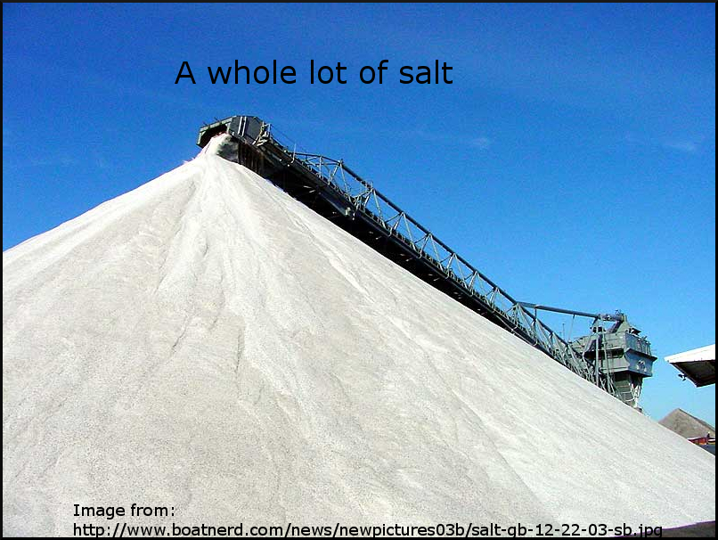And I mean a lot of salt.