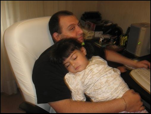 Nafiz and his daughter, Nil